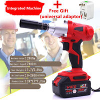 280n.m 68V Integrated Electric Impact Wrench 7800Ah Lithium Battery With Adaptor