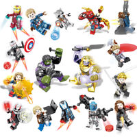 16 set/lot Marvel Super Heroes Avengers Infinity War Mini Figures Man Hulk