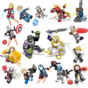 16 set/lot Marvel Super Heroes Avengers Infinity War Mini Figures Man Hulk