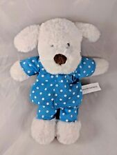 Beverly Hills Teddy Bear Co White Dog Plush in Pajamas 10.5""