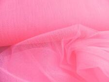 10,0m Stoffe Meterware Tüll Neon Pink Faschingstüll Gitternetz Karneval Gothik