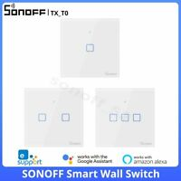 SONOFF T0EU Smart WiFi Wall Touch Switch Panel Wireless APP Remote Voice Control