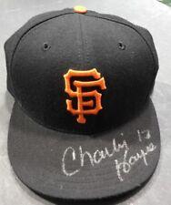 "San Fransisco Giants New Era Authentic MLB Hat ""59/50"" 7 5/8 Signed Charlie Hayz"