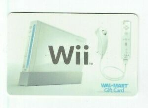 Walmart Gift Card - Wii Video Games, Console, Controller - No Value - I Combine