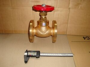 "3/4"" Bronze Flanged Globe Steam Stop Valve"