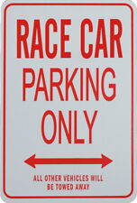 RACE CAR PARKING ONLY - MINIATURE FUN PARKING SIGNS