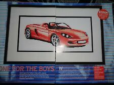 Glamorous red Porsche car picture cross stitch chart
