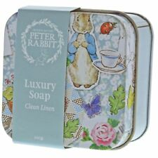Beatrix Potter A29194 Peter Rabbit Clean Linen Soap Tin