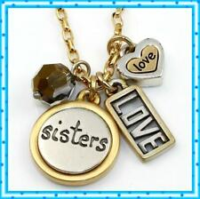 Brighton SISTER LOVE Charm Retired Necklace