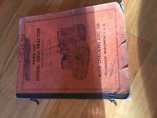 Allis Chalmers Allis Chalmers Hd11 11 Crawler Dozer Parts Catalog List Manual
