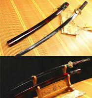 1060 CARBON STEEL BLACK BLADE DRAGON TSUBA JAPANESE SAMURAI SWORD KATANA SHARP