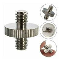 "1/4"" Male to 1/4"" Male Threaded Camera Screw Adapter For Tripod Holder Y9N0"