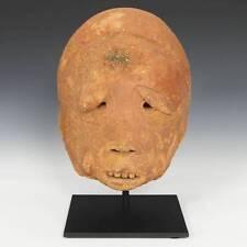 Rare Antique Head Of A Male Terracotta Sokoto N. Nigeria West Africa C. 10 Ce