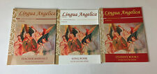 Lot Lingua Angelica Students Song Teacher Manual Book Latin Curriculum Education