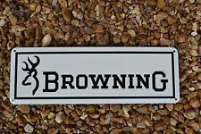 BROWNING FIRE ARMS GUN SHOP SIGN 9MM HUNTING 725 BUCK MARK1911 ADVERTISING LOGO