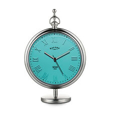Dalvey Turquoise Sedan Clock For Desk & Table; Stainless Steel & Silicone