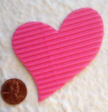 15 Hearts heart corrugated Corrugate pink Valentines crafts Scrapbooks Cards