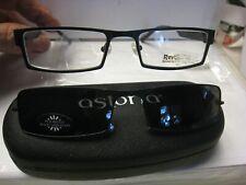 Revolution Eyeglass DEMO Frame W/ Magnet sun shade REV709 BLK  52-19-140 w/case