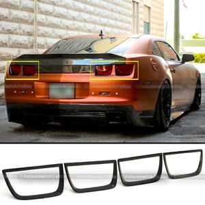For 10-13 Camaro Matte Black Finish Tail Light Cover Chrome Delete Frame Bezel