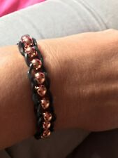 Elastic bracelet with rose gold beads