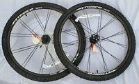 "Mountain Bike Wheelset Wheel Set Disc 26"" Bladed Spokes Including Tires & Tubes"