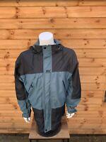 Vintage Helly Hansen Hellytec Waterproof Jacket Green & Black Mens Medium
