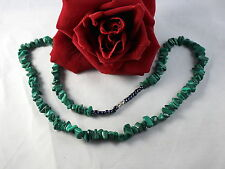 Gorgeous Green Malachite   Beaded  Necklace FERAL   CAT RESCUE