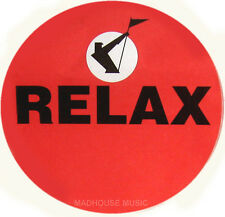 """FRANKIE GOES TO HOLLYWOOD Relax STICKER UK PROMO ONLY 9 cm radius (3.5"""") UNUSUED"""