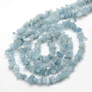 30pz  perline chips pietre in acquamarina naturale  5-10mm  bijoux