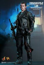"Hot Toys Terminator 2 Judgement Day T800 Battle Damaged Ver. 12"" figure DX13"