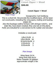 Comet Zipper laser cut short kit and plans + wood pack
