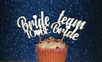 8x Bride To Be & Team Bride Cupcake Toppers Hen Night Wedding Engagment Party