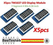 5pcs TM1637 Red Anode Digital Tube LED Module & Clock 7 Segment 4 Bits 0.36 Inch
