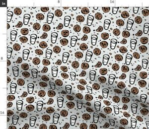 Milk Cookies Gray Chocolate Toddler Spoonflower Fabric by the Yard