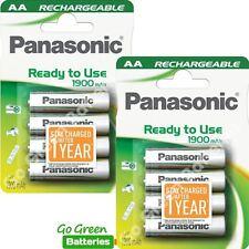 8 X Batería Recargable AA Panasonic 1900 mAh listo para usar HR06 LR6 NiMH MN1500
