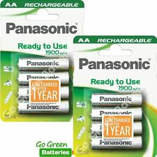 8 x Panasonic AA Rechargeable Battery 1900 mAh (Prev. Infinium)