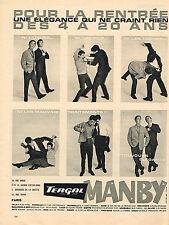 PUBLICITE ADVERTISING 104  1961  MANBY   vetements enfants