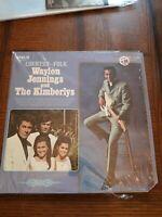 Waylon Jennings And The Kimberlys Country-Folk Record Vinyl LP