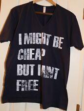 Little Big Town Cheap But Aint Free Vintage T Shirt Navy L Large Ladies V Neck