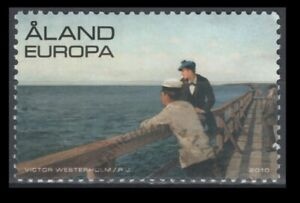 """Aland Scott No. 297 """"Mail Jetty at Eckero"""" painting, On Paper"""