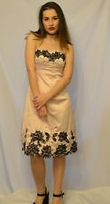 Pink and Floral Silk Formal Wedding Prom Party Dress Jane Norman