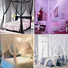 4 Corner Post Bed Canopy Cover Mosquito Net Full Queen King Size Outdoors Net
