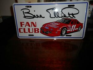 "BILL ELLIOTT #11< FAN CLUB> ""METAL"" LICENSE PLATE BRAND NEW NICE!!"