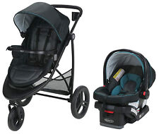 Graco Baby Modes 3 Essentials Travel System Stroller w/ Infant Car Seat Sapphire