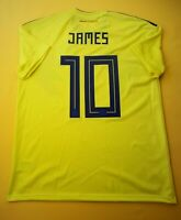 5+/5 James Colombia jersey large 2018 home shirt CW1526 soccer Adidas ig93