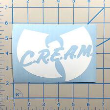 "Wu Tang Cream Street Wear Set 5""  White Vinyl Decal Sticker BOGO"