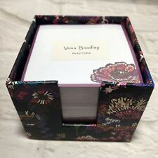 VERA BRADLEY Notepad Note Cube Midnight Floral pattern NEW in Package Sealed