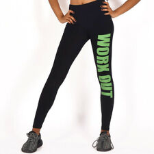 Women's Work Out Leggings hose Sport Fitness Yoga Pants Jogging Tights Green
