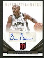 Bruce Bowen #55 signed auto 2012-13 Panini Momentum Basketball Card 1/25