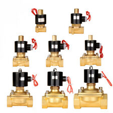 """G1/4""""-2"""" Messing Magnetventil Ventil Luft Wasser DC12V/24V AC220V Normal Offen"""